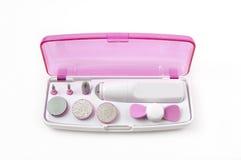 Nail polishing kit. For females royalty free stock photos