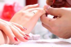 Nail polishing Royalty Free Stock Image