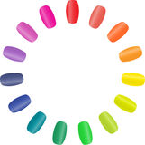 Nail rainbow Stock Photos