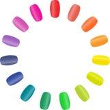 Nail rainbow stock photos