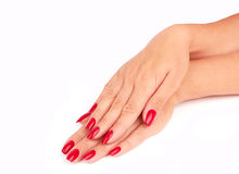 Nail red Stock Photography