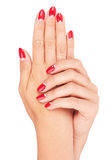 Nail red manicure Royalty Free Stock Photography