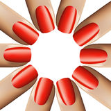 Nail red manicure  on white background. 3d illustration. Vector. Nail red manicure  on white background. 3d illustration. Vector Stock Photo