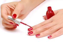 Nail salon. Royalty Free Stock Photography