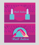 Nail Salon design of business cards Stock Photo