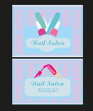 Nail Salon design of business cards Royalty Free Stock Photo