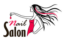 Nail salon logo Stock Image