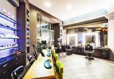 Nail salon. In modern interior royalty free stock images