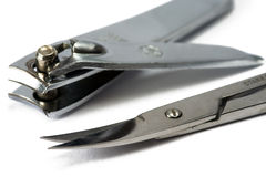 Nail scissors and cutter Royalty Free Stock Photography