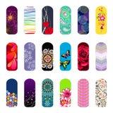 Nail set. Set of nail art designs for beauty salon vector illustration