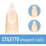 Nail shape stiletto Stock Photos