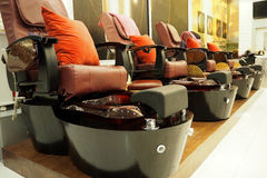 nail spa chair Royalty Free Stock Photography
