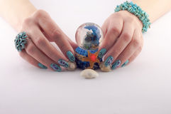Nail, Spa and Shells Stock Image