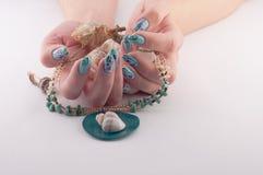Nail, Spa and Shells Royalty Free Stock Photo