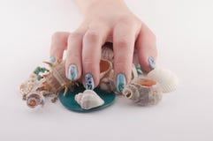 Nail, Spa and Shells Royalty Free Stock Image