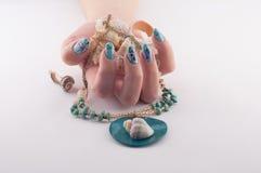 Nail, Spa and Shells Royalty Free Stock Photography