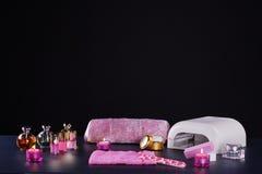 Nail studio accessories Stock Photo