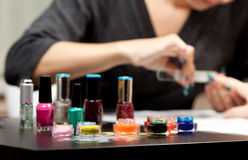 Nail studio Royalty Free Stock Photography