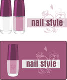 Nail style. Two banners for design Stock Image