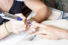 Nail technician Royalty Free Stock Photo