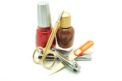 Nail Treatment Royalty Free Stock Images