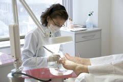 Nail Treatment Stock Photo