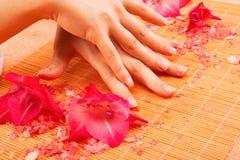 Nail treatment at spa Stock Image