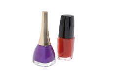 Nail varnish. Color nail varnish in glass bottle is cosmetic for women Stock Photo