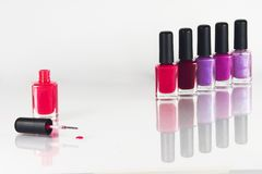 Nail varnish. Some nail varnish of different color Royalty Free Stock Photography