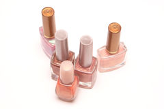 Nail varnish. Glass bottles with nail varnish Royalty Free Stock Photo