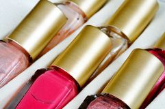 Nail varnish bottles. Royalty Free Stock Photography