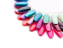 Nail varnishes Royalty Free Stock Images