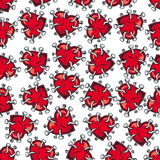 Nailed hearts seamless background pattern Stock Image