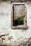 Nailed Ruin window Royalty Free Stock Photography