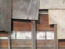 Nailed Wood Panel Abstract. Royalty Free Stock Image