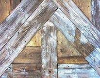 Nailed wooden door of oak wood sticks Stock Image