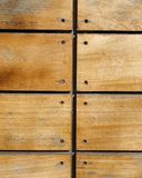 Nailed wooden planks closeup Royalty Free Stock Image