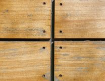 Nailed wooden planks closeup Royalty Free Stock Images