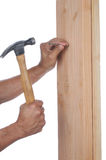 Nailing Boards Together Stock Photos