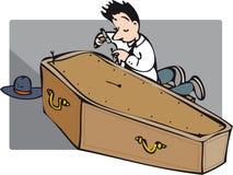Nailing coffin Stock Photo