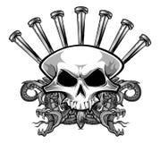 Nailing skull Stock Photo