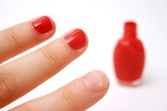 Nailpolish Stockfoto