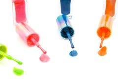 Nailpolish colorido foto de stock