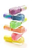Nailpolish colorido Imágenes de archivo libres de regalías
