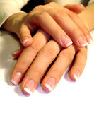 Nails. Womans hand with manicure nails Stock Photo