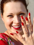 Nails. Red nails Royalty Free Stock Photos