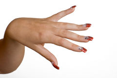 Nails. Manicured female hands with nice nails Stock Photography