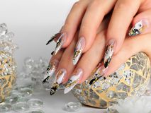 Nails art design. Royalty Free Stock Images