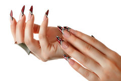 Nails art design. Royalty Free Stock Image