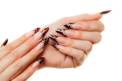 Nails art design. Stock Images